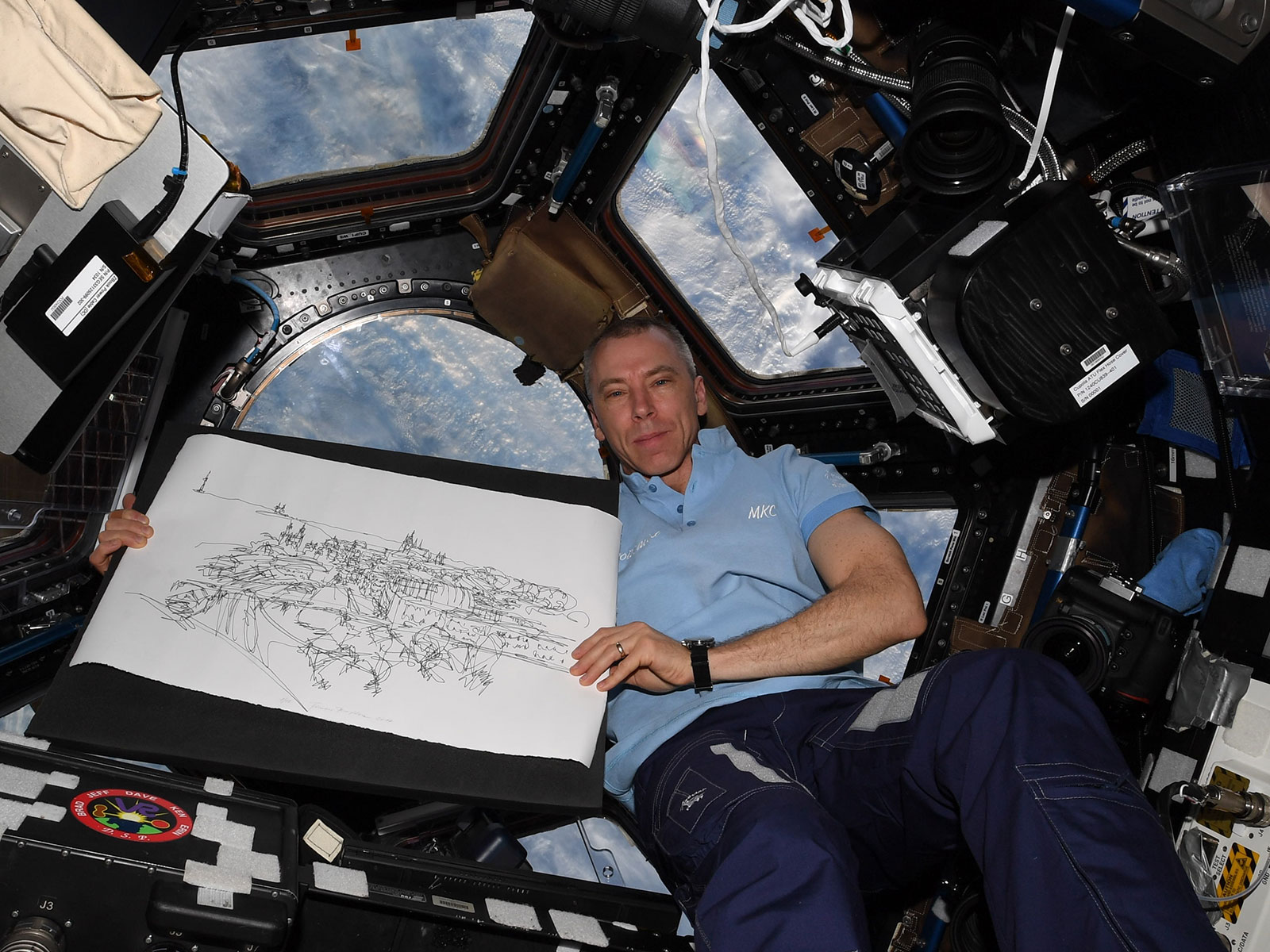 Simona Brejcha's Artwork on ISS - Drew Feustel